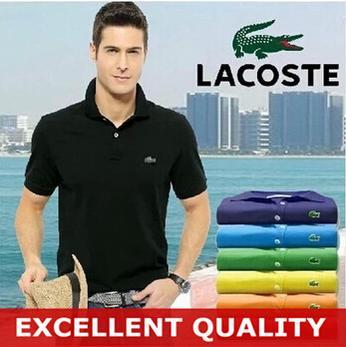 Nuova polo da uomo in cotone di alta qualità con maniche corte in cotone traspirante tinta unita maschile traspirante