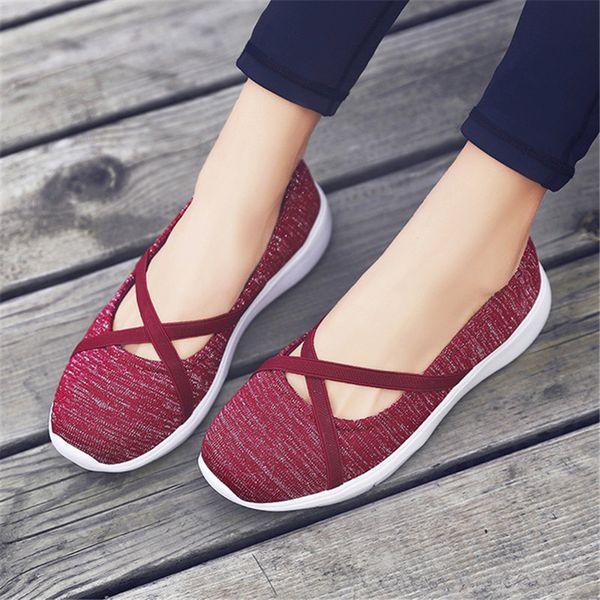 SAILING LU Summer Woman Flats Slip On Shoes Casual Flying Weaving Luz Transpirable Suela Suave Cuña Zapatillas de deporte Zapatos XWD7730