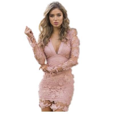 Sexy Frauen Kleider 2019 Neue Ankunft Spitze Aushöhlen Tiefem V-ausschnitt Kleider Womens Formales Kleid Mode Sexy Party Kleid