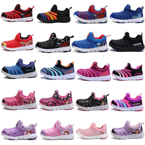 24 Colors Kids Caterpillar Designer Shoes Boys Sports Shoes Sneakers Baby Soft Bottom Cute Cartoon Trainers For Boys Girls