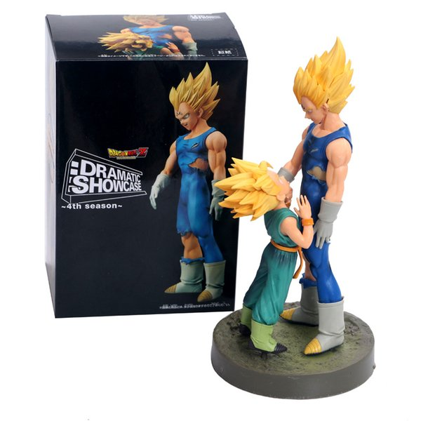 Dragon Ball Z Dramatic Showcase Super Saiyan Vegeta and Trunks Anime Action Figure Collectible Model Toys Brinquedos One Piece Toy w/box
