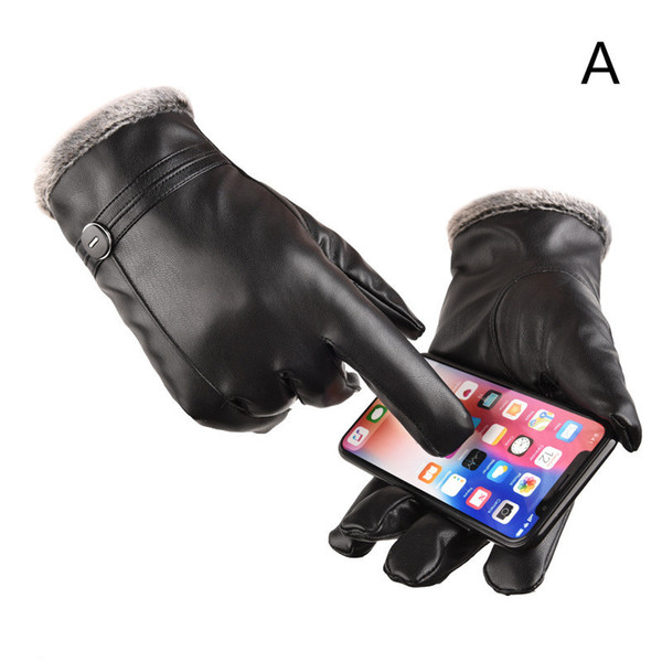 best selling 2019 winter upgrade windproof waterproof thickening ski cotton gloves gloves men warm leather gloves touch screen female new
