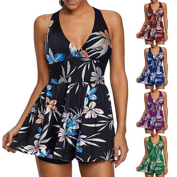 New Bikinis 2019 mujer 2 Piece Printed Tops Bottoms Bikini Set Swimsuits Swimwear Women Beach Cover up Dropping biquini bathers