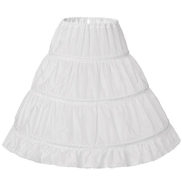 Princess Ball Gown 3 Hoops Kids Flower Girl Dresses Petticoat Underskirt Crinoline Ballet Dance
