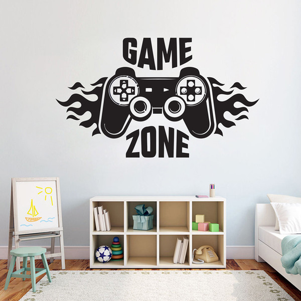 Kids Bedroom Wall Decal Sticker Home Decoration Game Zone Gamer Art Decal  Mural Poster Boys Palyroom Wall Decoration Sticker Wall Art Quotes Sticker  ...