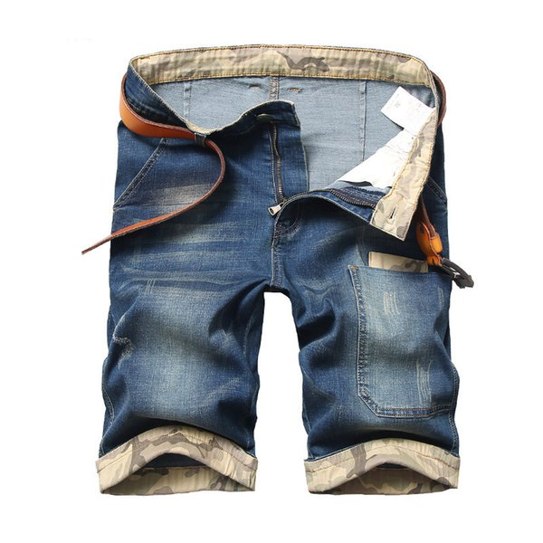 New 2017 Summer Knee Length Shorts Casual Denim Jeans For Men Plus Big Size 28-40 42 44 46 48 J190628