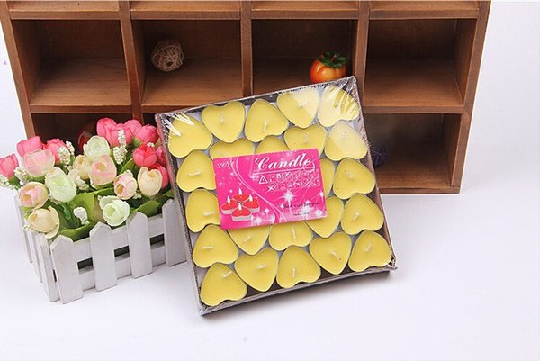 best selling Heart Shaped Candle Wildlebend 50 Pieces - Yellow Ship from Turkey HB-001635240
