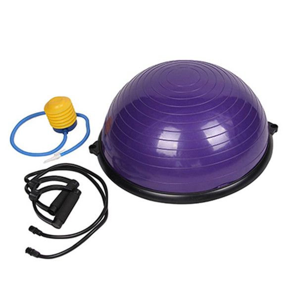 Yoga ball Balance Hemisphere Fitness PVC and ABS Materials Exercise Massage Effect Ball for Gym Office Home Purple