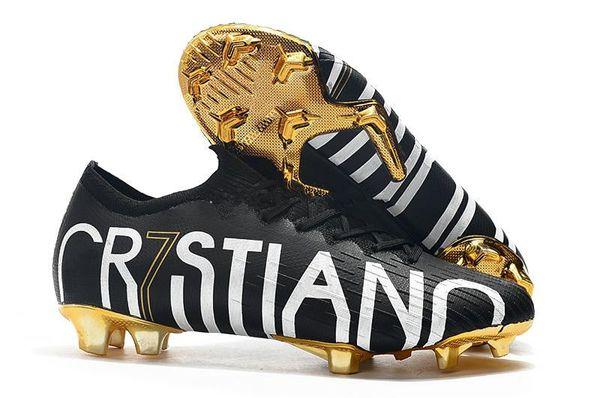 NIKE Tacchetti da calcio per bambini CR7 oro rosso originale Mercurial Superfly V CR7 FG Scarpe da calcio per bambini Ronaldo scarpe da calcio per donna 36-45
