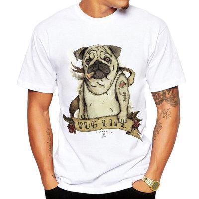 Rap t shirt Heavy rock dog tattoo rapper short sleeve tees Hip hop pug life singlet Fastness printing clothing Quality modal Tshirt