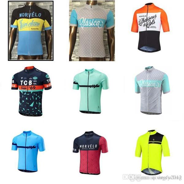 Morvelo 2018 Ciclismo Mangas Curtas Tops de Ciclismo Estilo Verão Para Os Homens de Bicicleta Desgaste Da Bicicleta Roupas C1336
