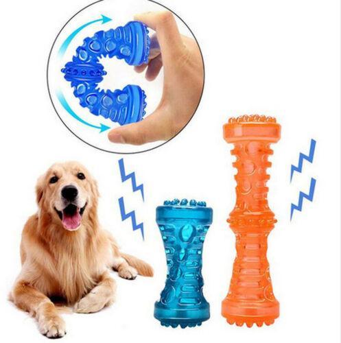 Perro Perro Juguetes cepillo de dientes adecuado hacer el sonido del animal doméstico divertido Squeak sólido Chew rechinar los dientes Oral Molar cuidado del perro del palillo cepillado