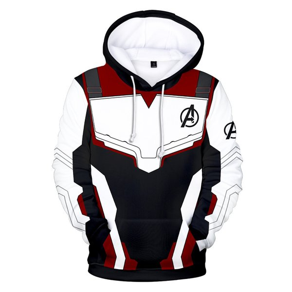 The Avengers 4 Endgame Hoodies Printed Long Sleeve Inside Fleece Casual Pullover Hooded Sweatshirt Jacket Top For Men Women Clothing