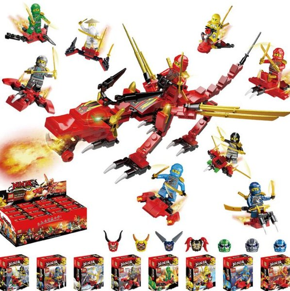 The new phantom ninja people small particles assembled puzzle dragons Ninja City building blocks wholesale spelling toys