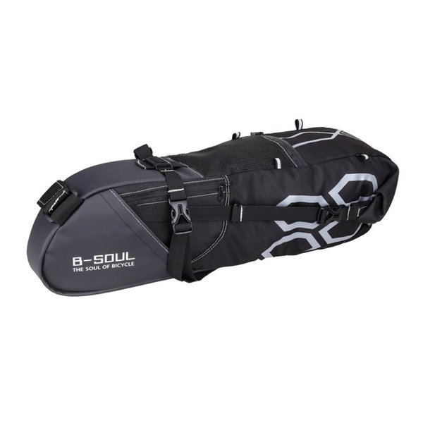 B-SOUL Large Size Bicycle Seatpost Bag Bike Saddle Seat Storage Pannier Cycling MTB Road Rear Pack Storage Bag With Zipper #316845
