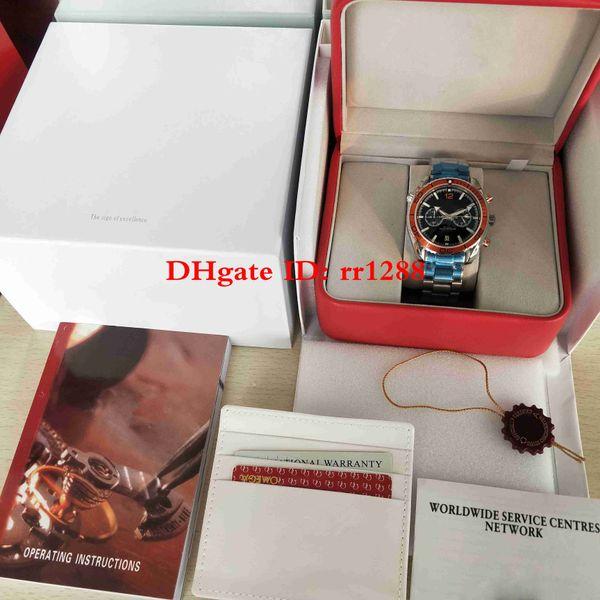 Hohe Qualität 600M Watch Co-Axial Planet Ocean GMT 232.30.46.51.01.002 VK Quartz Chronograph Arbeits-Stahl-Armbanduhren Herrenuhren