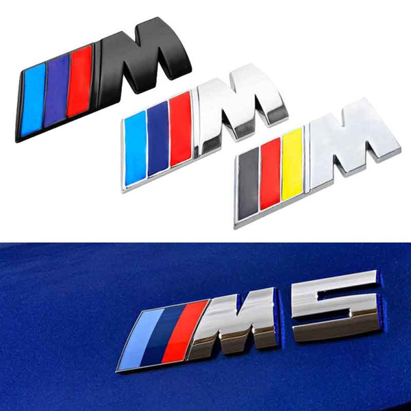 best selling 5.6*2.1cm Car Sticker    M Power M Emblem Badge Decals 3D Stickers For BMW e36 e39 e46 e60 e87 e30 f10 f20