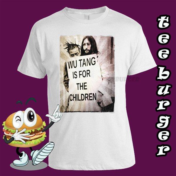 Wu Tang. ODB. John Lennon. Wutang es para los niños. Hip hop. Camiseta blanca de la manera unisex de las mujeres de los hombres de la camiseta Envío libre