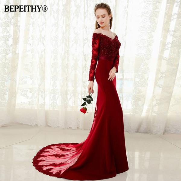 Vestido De Festa Longo Mermaid Lace Top Bodice Slim Line Long Bridesmaid Dresses Fast Shipping Charming Wedding Party Gowns New Q190516