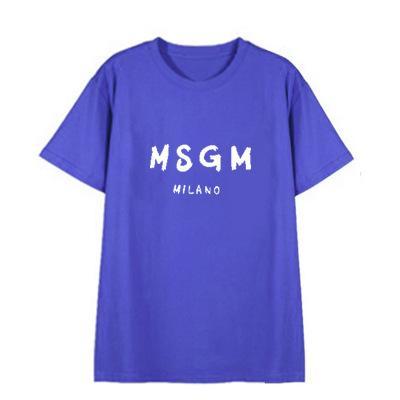 Designer de T Shirt para Homens Moda Carta MSGM Tees Casual Padrão de Manga Curta Tendência Solta Tops para Casal Mulheres 2019 Venda Quente 10 cores