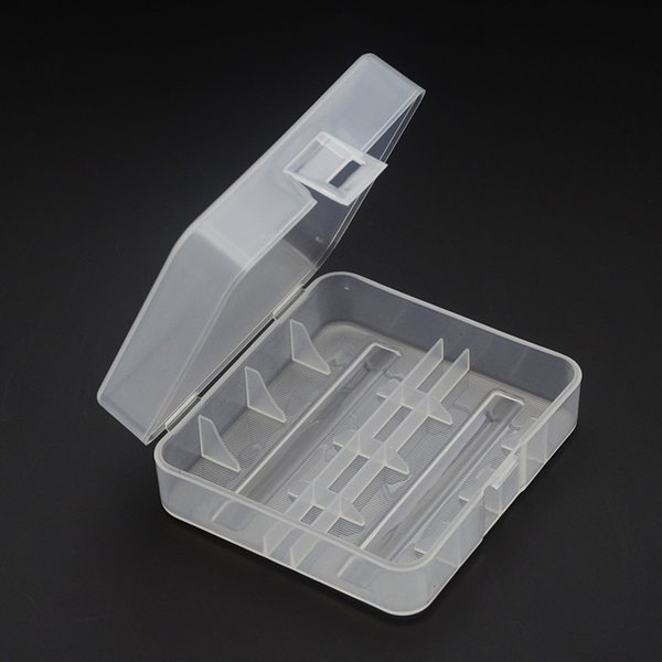 free shipping USA 26650 Battery Case Holder Box For 2 X 26650 rechargeable li-ion Batteries PP 26650 Battery Storage Box Organizer container