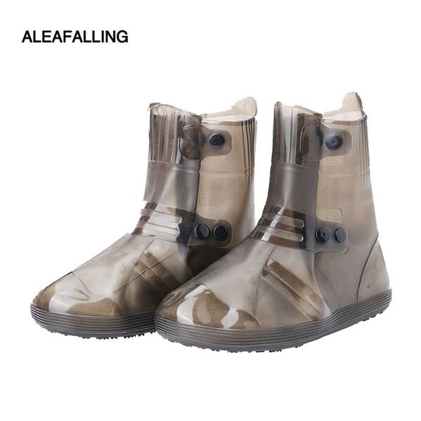 Aleafalling Kadınlar Adam Çift Yan Su Geçirmez Kalıp Kullanımlık Yağmur Ayakkabı Yağmur Çizme kaymaz Aşınma Açık Ayakkabı Kapakları SC39 Kapakları