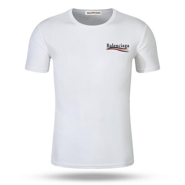 New B style fashion doppelseitiger Druck Runder Kragen T Kurzarm T-Shirts für Männer Tops Hemd aus reiner Baumwolle Kleidung