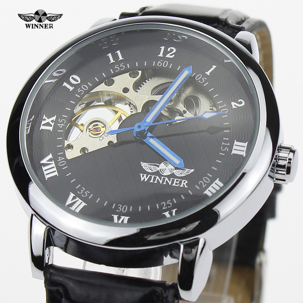 Fashion Leisure Time Hollow Out Name Surface Manual Operation Mechanics Wrist minion Watch invicta roles watches men luxury brand Factory