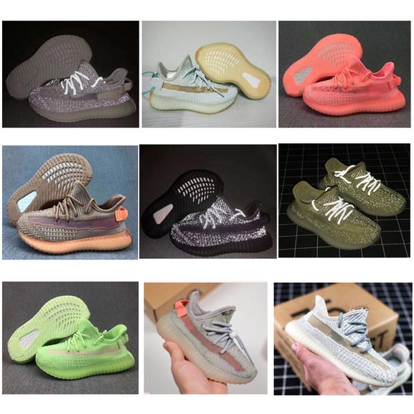 2019 bebê Crianças Crianças Sapatos argila Hyperspace verdadeira forma V2 Running Shoes Boy Girl Kanye West Beluga 2,0 Sneakers criança instrutor