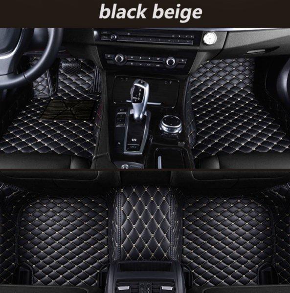 Il lusso del tappetino per auto Audi A1 2012-2015 circondato da tappetini per auto ecologici resistenti all'usura in pelle impermeabile