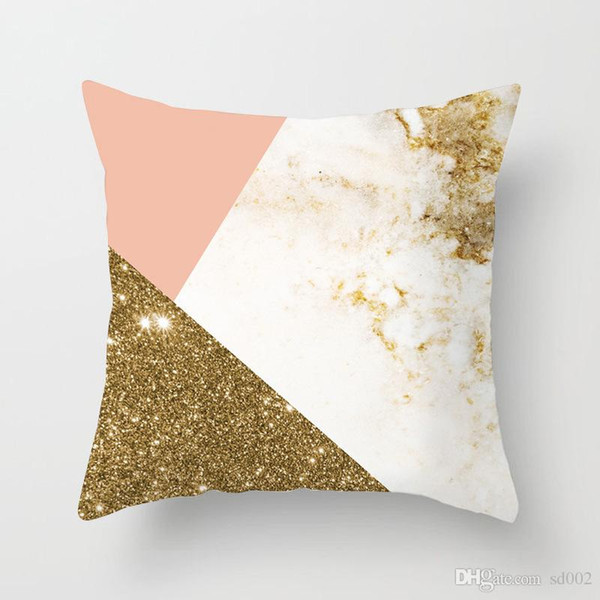Polyester Fiber Geometry Sofa Pillow Cushion Pink Department Pillow Cover Home Hotel Furnishing Office Abstracts Pillow Case Sleeve 3 6tq A1