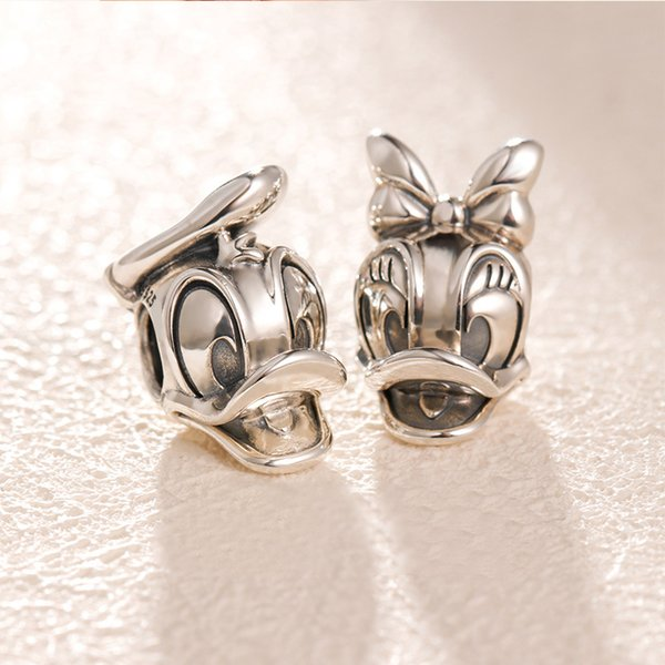 Authentic 925 Sterling Silver Duck Charms Original box for Pandora Beads Charms Bracelet jewelry making accessories