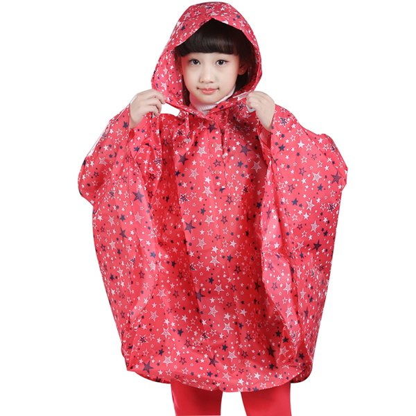 Reusable Boys Girls Thin Summer Waterproof Lightweight Printed Roll Up Rainproof Cartoon Student Kids Raincoat Cloak Poncho