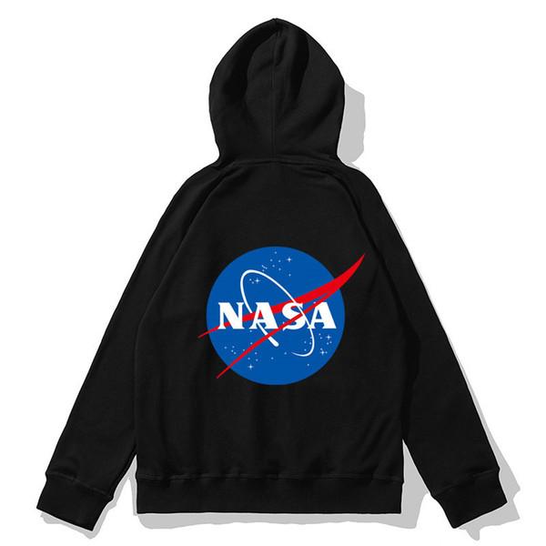 Hip Hop Street Style Kapüşonlular Womens NASA ve Dünya Baskı Kapşonlu Sweatershirts Casual Tasarımcı Marka Kazak Üst Kalite B101742V
