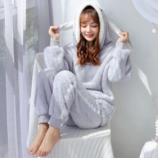 économiser jusqu'à 80% économiser chaussures élégantes 2019 Women Cute Cartoon Sleepwear Flannel Pajamas Long Sleeve Warm Suit  Pyjama Femme Two Piece Sets Casual Homewear From Qiangweiflo, $37.58 | ...