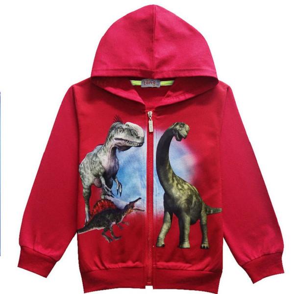Auffallende coole Dinosaurier kommen! Halloween Jacken Jungen Sportswear Carnival Party Baby Mädchenjacke Kinderkleidung 3-10Y