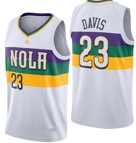 288402855d8 2019 Men Basketball Jersey Anthony 23 Davis 100% Stitched Jerseys blank red  White