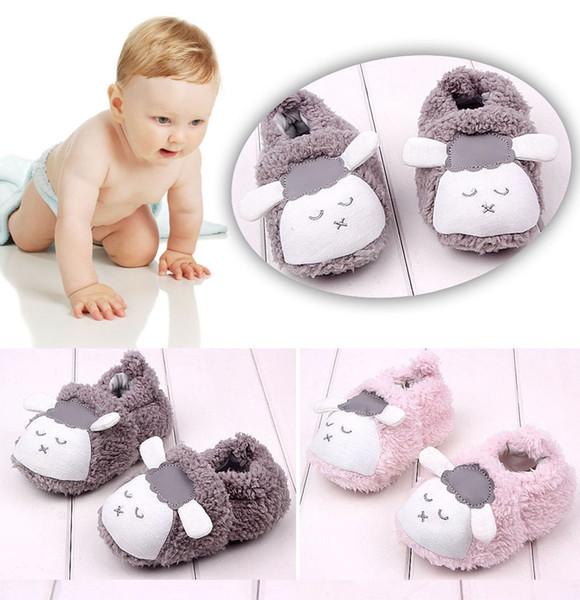 Kleinkind prewalker Baby netten Bowknot-Schnee-Aufladungen Krippe Schuhe Kleinkind warme Fleece-Stiefel