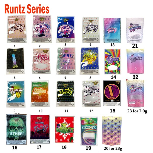 L'UP Joke! Blanc Rose Runtz ETHER OG V Gruntz hawaïennes PinkRunts Nabot Emballage Sac Smell Sacs Proof 420 Herb Dry Flowers 3.5G