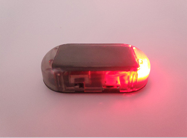 best selling USB Solar Power LED Car Alarm Light Anti-Theft Warning Flash Blinking Fake Flash Lamp Red Blue