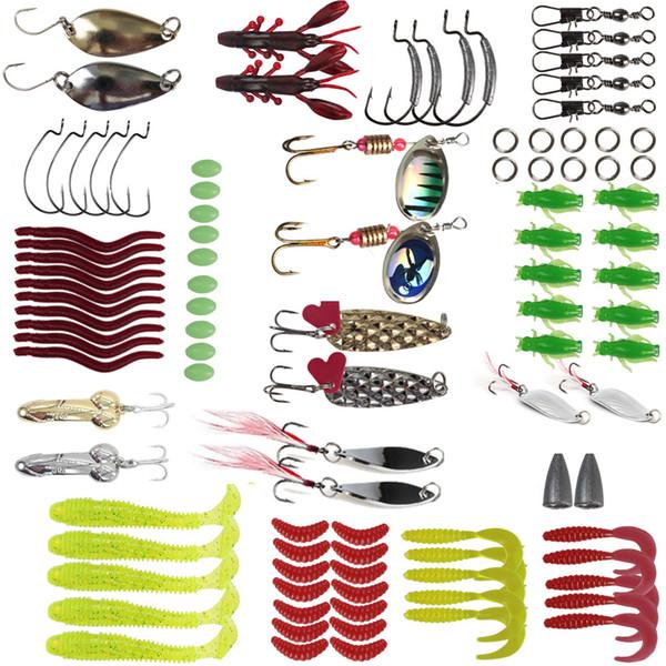 2019 Leurre 105Pcs multifonctionnelle appât ensemble avec sequins Minnow appât carpe appât pour Spinners poisson de mer