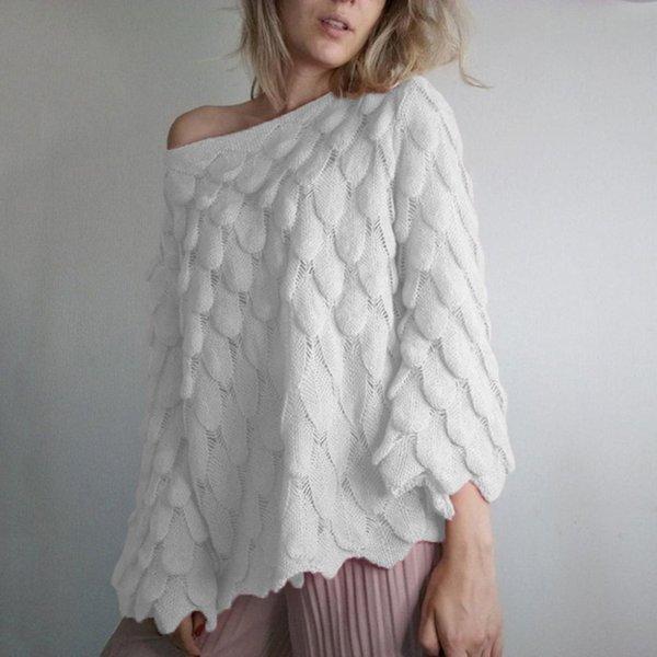 Savabien donne maglioni e pullover una spalla harajuku maglione solido stile coreano vintage maglione allentato casuale streetwear
