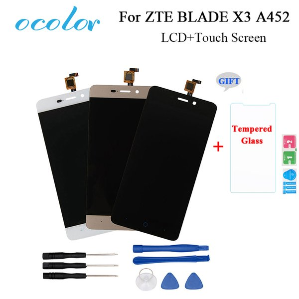 Mobile Phone Accessories Mobile Phone LCD Screens ocolor For ZTE BLADE X3 A452 t620 LCD Display And Touch Screen Screen Digitizer Assembly