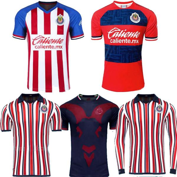 Size S-2XL 2019 MEXICO Club Chivas de Guadalajara home 3rd away club world long sleeve A.PULIDO LOPEZ Football Shirts Soccer Jerseys 19 20