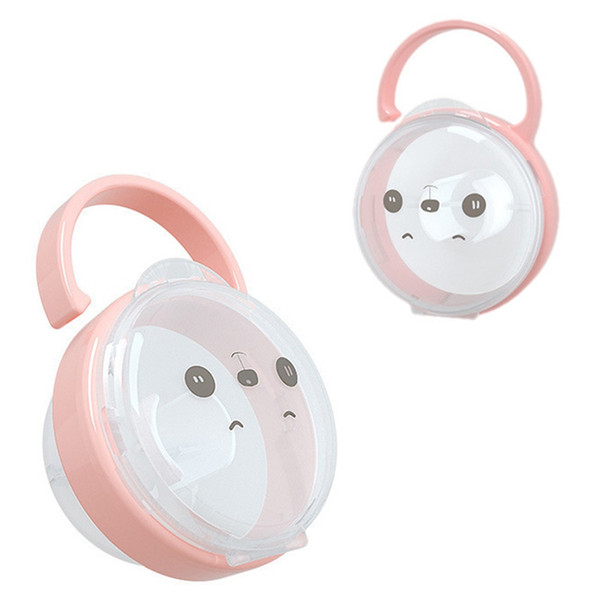 2PCS Portable Baby Nipple Box Infant Pacifier Cradle Case Holder Soother Box UP