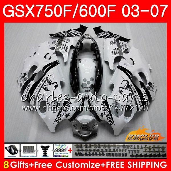 Kit de carrocería para SUZUKI KATANA Scorpion negro GSXF600 GSXF750 03 04 05 06 07 3HC.7 GSX750F GSX600F GSXF 750 600 2003 2004 2005 2006 2007 Carenado