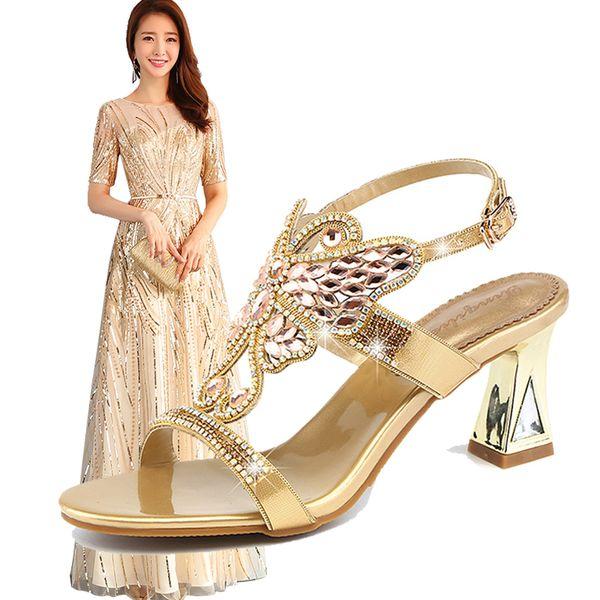 783c6b658db3f Zarif Kadın Abiye Ayakkabı Maç Altın Bling Uzun Elbise Taklidi Deri Yüksek  topuklu Ayakkabılar Kadın Giyim