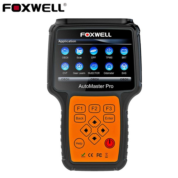 FOXWELL NT644 Pro Automotive OBD 2 Scanner Oil Light Reset ABS SRS DPF EPB SAS BRT TPS TPMS Full System OBD Car Diagnostic Tool