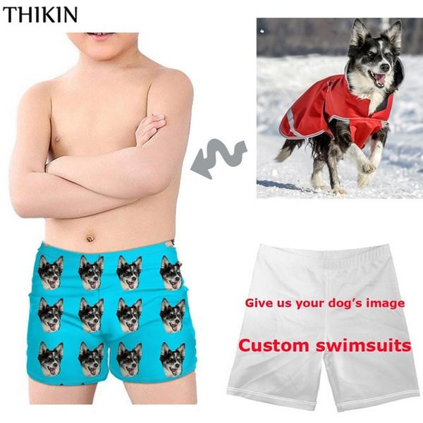 e50bebbd8e Thikin 3d Game Spla-toon Print Children Swimming Suits Summer Swim Trunks  For Kids Boys