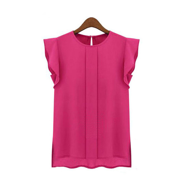 Femme Blouse Summer Blouse Women Fashion Casual ladies blouses Loose Chiffon Short Tulip Sleeve Blouse Shirt Tops For